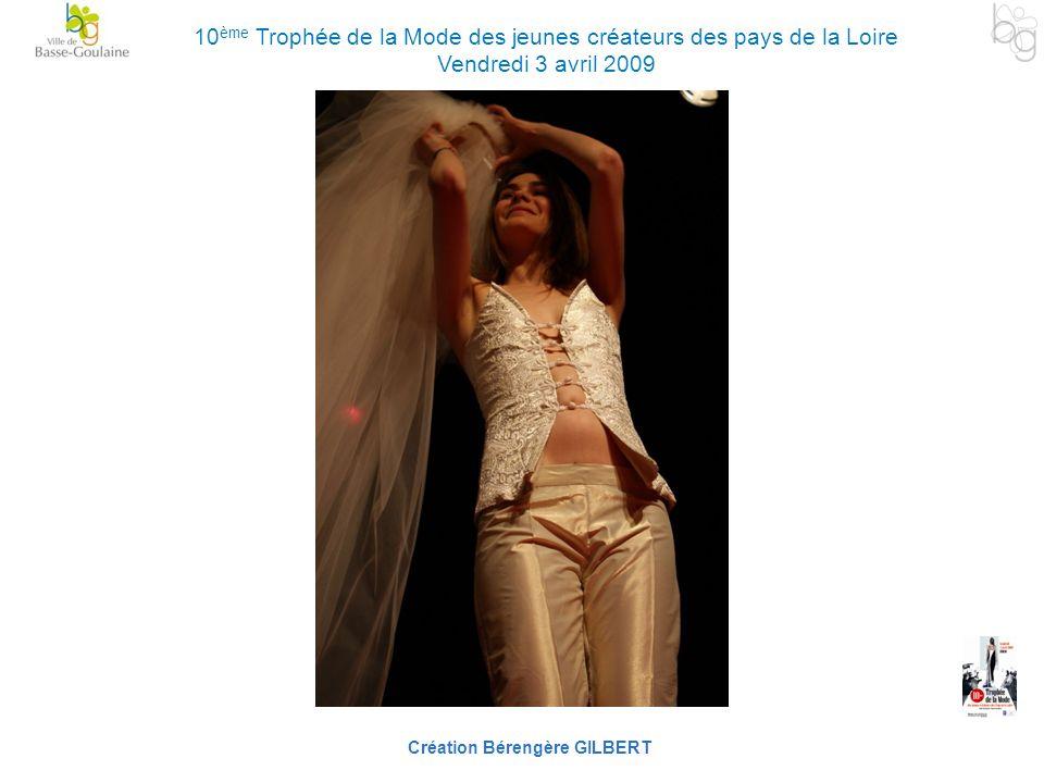 Création Bérengère GILBERT 10 ème Trophée de la Mode des jeunes créateurs des pays de la Loire Vendredi 3 avril 2009