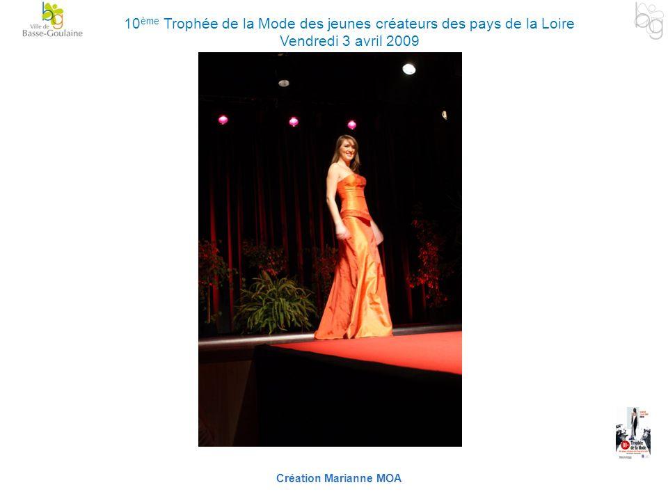 Création Marianne MOA 10 ème Trophée de la Mode des jeunes créateurs des pays de la Loire Vendredi 3 avril 2009