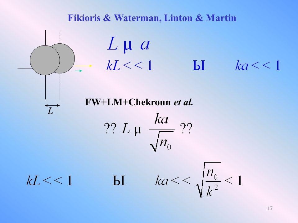 17 Fikioris & Waterman, Linton & Martin L FW+LM+Chekroun et al.