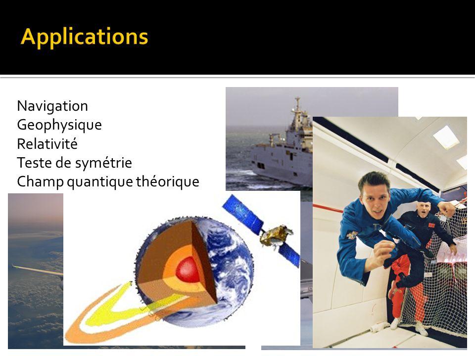 Navigation Geophysique Relativité Teste de symétrie Champ quantique théorique