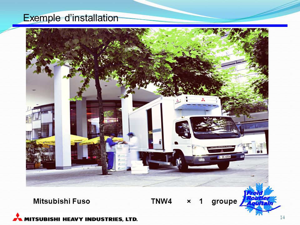 TNW4 × 1 groupeMitsubishi Fuso Exemple dinstallation 14