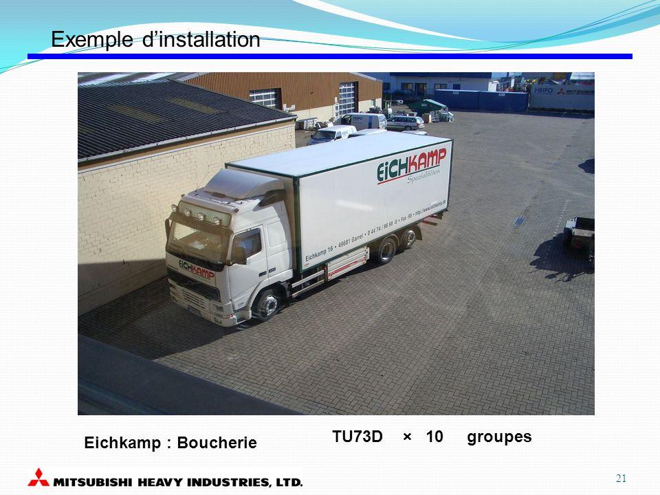 Eichkamp : Boucherie TU73D × 10 groupes Exemple dinstallation 21