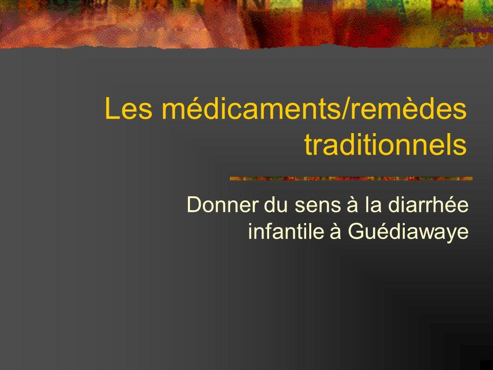 Les médicaments/remèdes traditionnels Donner du sens à la diarrhée infantile à Guédiawaye