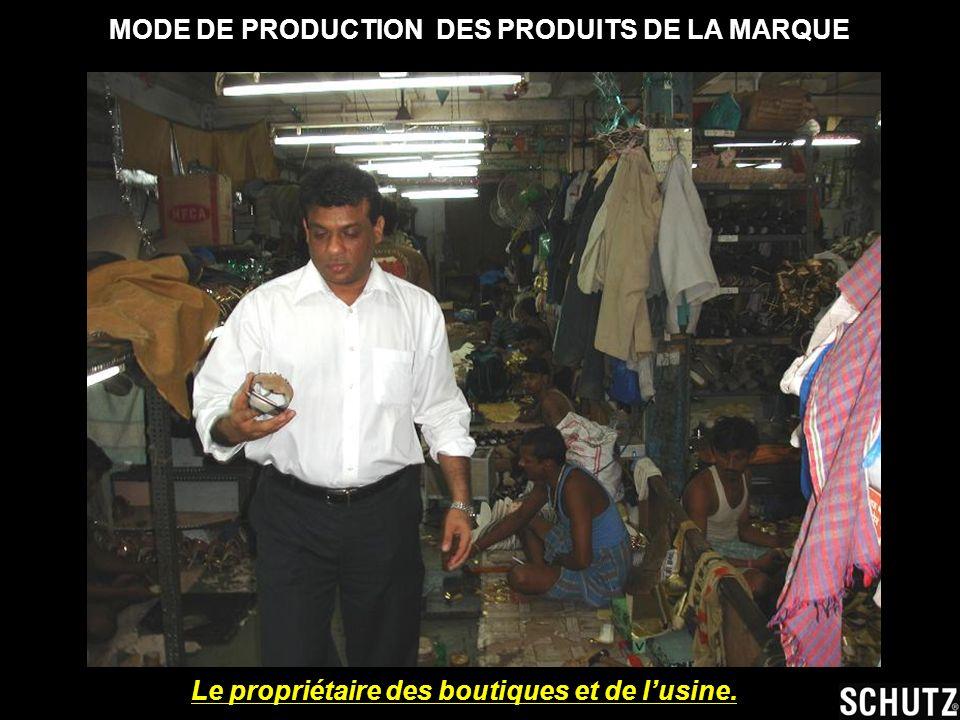 Le propriétaire des boutiques et de lusine.