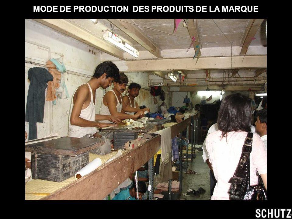 MODE DE PRODUCTION DES PRODUITS DE LA MARQUE