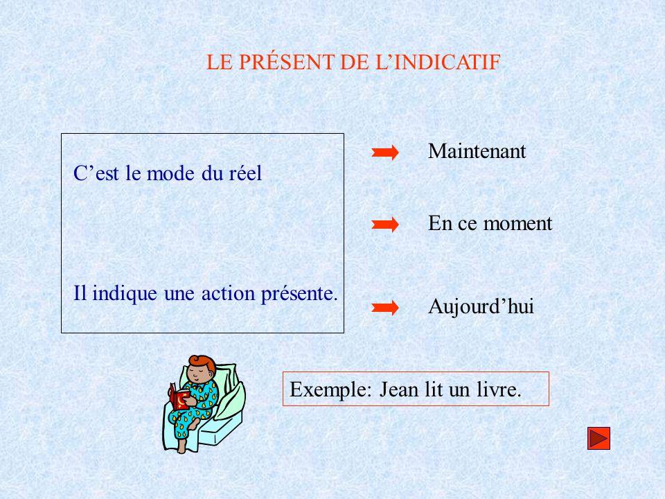 LES TROIS GROUPES 1 er groupe -er Je Tu Il / elle / on Nous Vous Ils / elles 2 ème groupe - ir (*) 3 ème groupe -ir/re-dre-oir - e (*) – participe présent en – issant (finir, choisir, nourrir, fournir...) - es - e - is - it - s / - ds / - x - t / - d / - t - ons - ez - ent - ons - ez - ent - issons - issez - issent