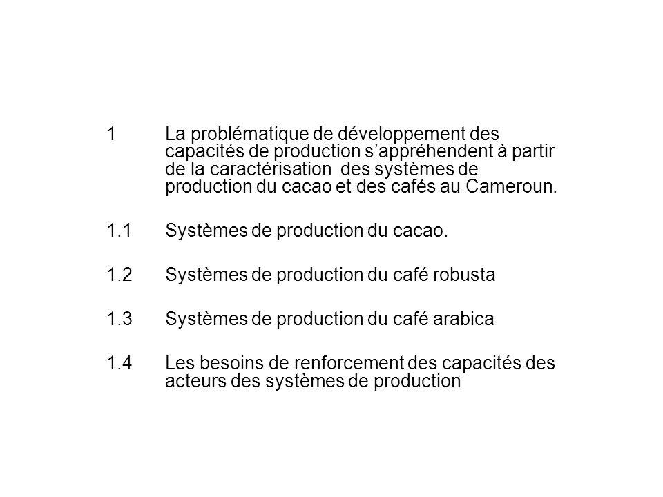 Plan de lexposé. 1La problématique de développement des capacités de production sappréhendent à partir de la caractérisation des systèmes de productio