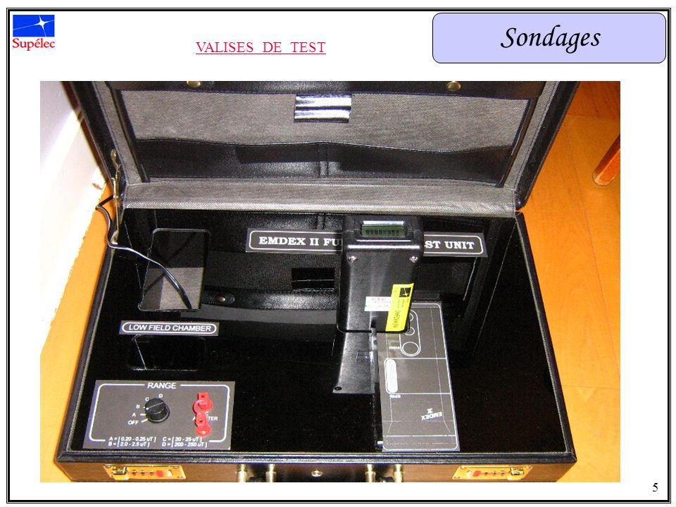 Sondages INFORMATIONS RECUEILLIES Garantir les performances des EMDEX fournis Localiser précisément lhabitation 6