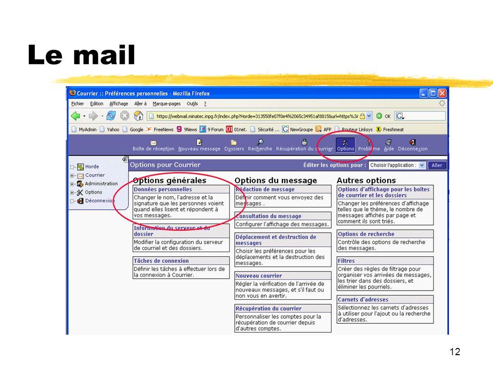 12 Le mail