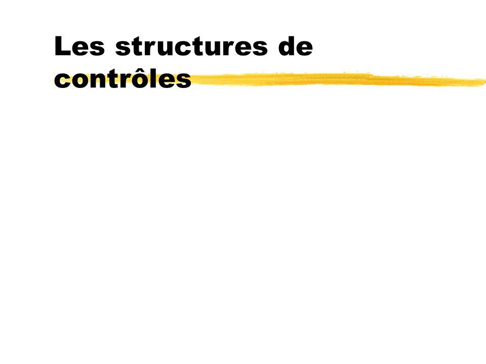 Les structures de contrôles