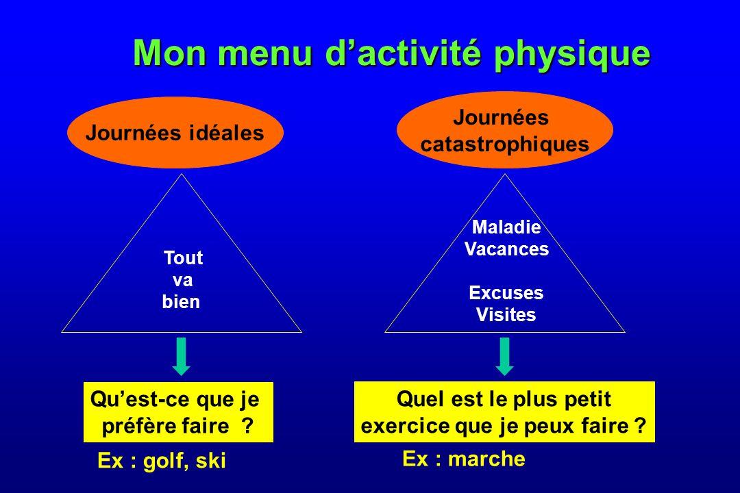 Mon menu dactivité physique Quest-ce que je préfère faire .