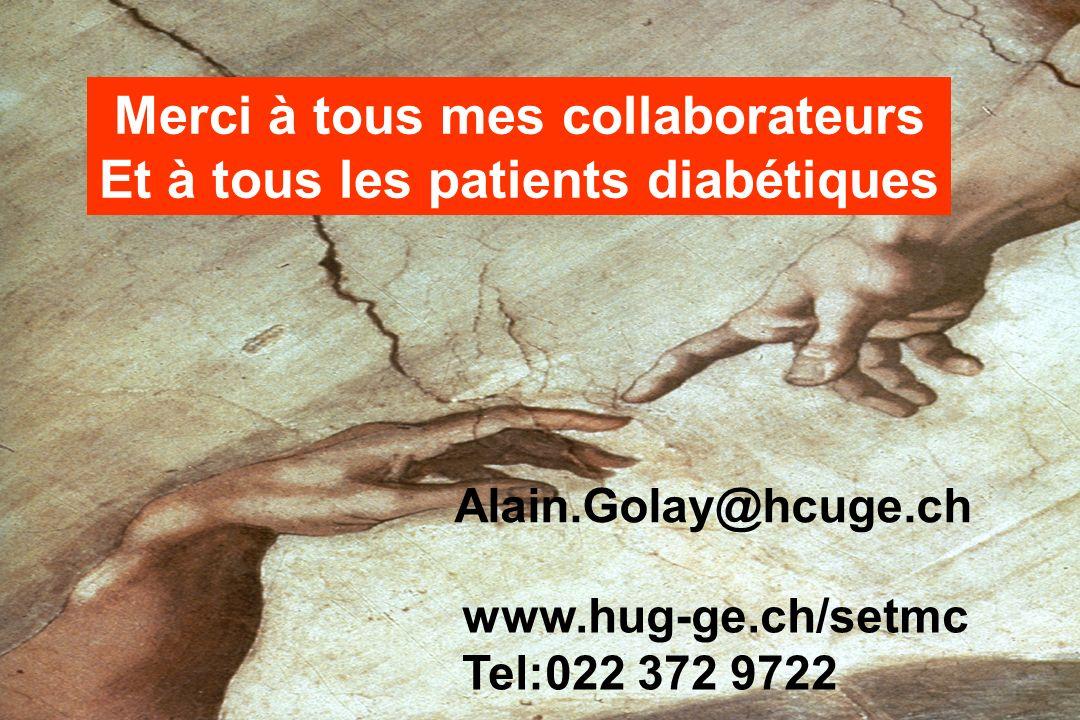 Merci à tous mes collaborateurs Et à tous les patients diabétiques www.hug-ge.ch/setmc Tel:022 372 9722 Alain.Golay@hcuge.ch