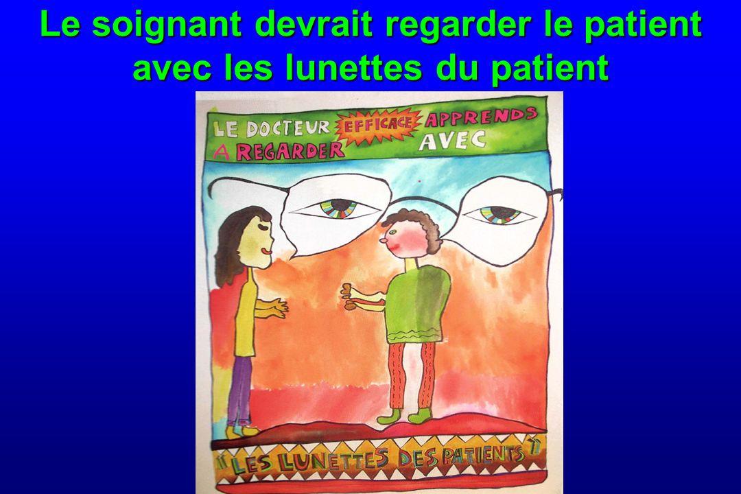 Le soignant devrait regarder le patient avec les lunettes du patient