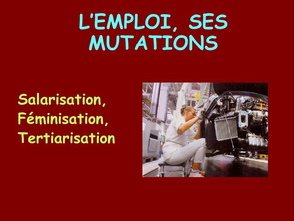 Salarisation, Féminisation, Tertiarisation LEMPLOI, SES MUTATIONS