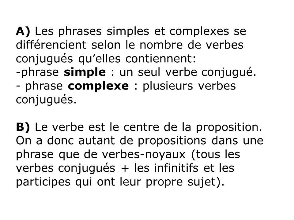 II- Propositions indépendantes, principales et subordonnées