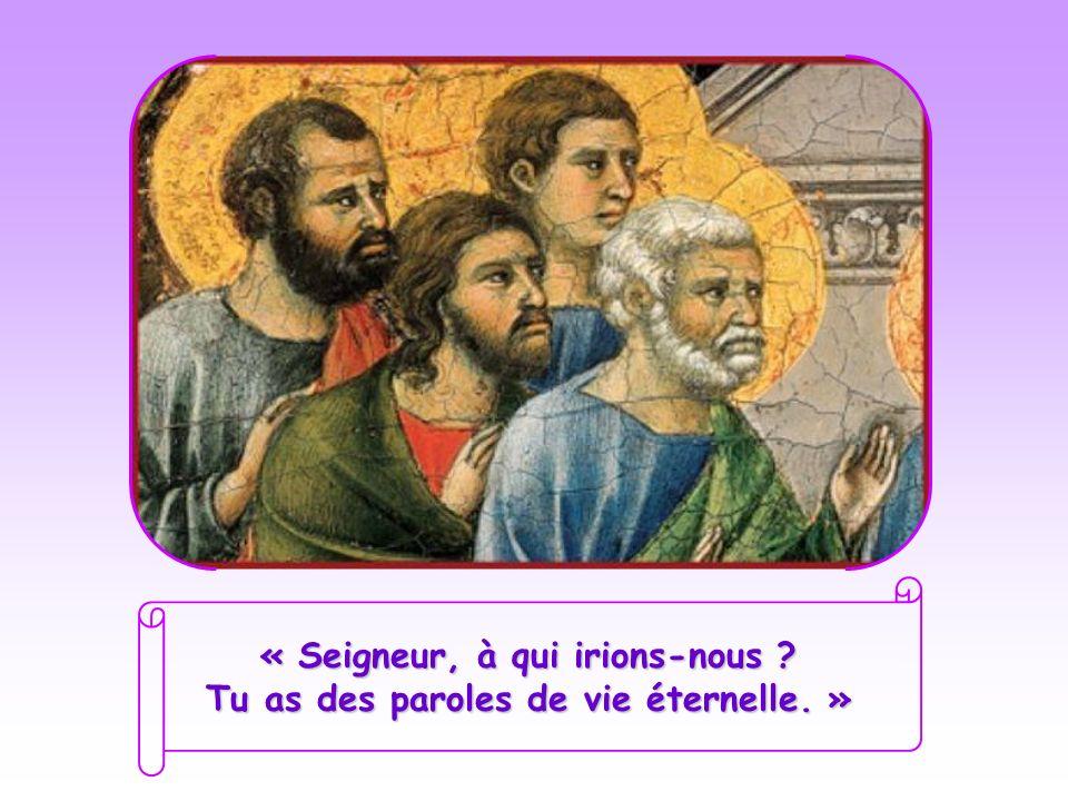 Alors, voyant séloigner ses disciples, il sadresse aux Douze : « Voulez-vous partir, vous aussi ? » Pierre, désormais attaché pour toujours à son Maît