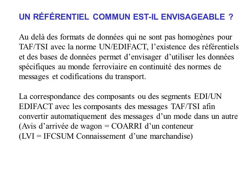 UN RÉFÉRENTIEL COMMUN EST-IL ENVISAGEABLE .