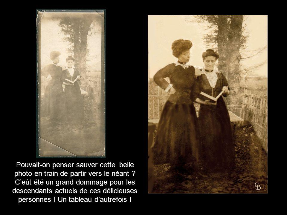 Véritable sauvetage pour cette photo datée 1930...Lâge de cette vieille dame : 53 ans .