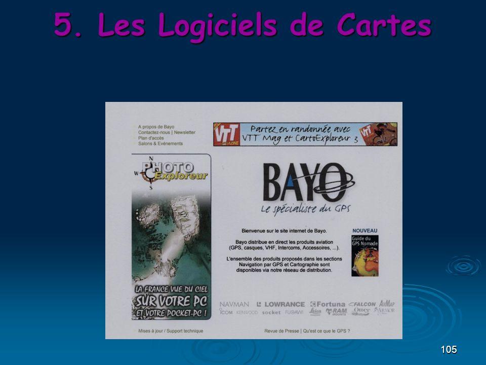 105 5.Les Logiciels de Cartes