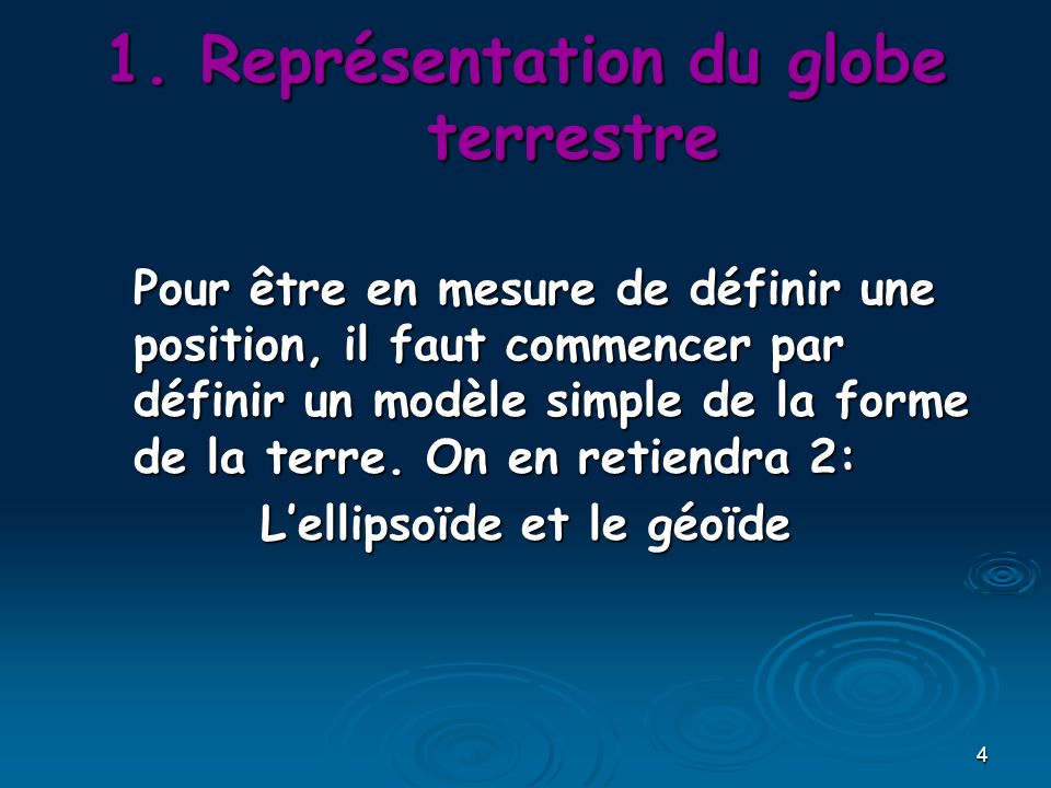 25 Approche numérique 1° = 60 = 3600 180°360° = 200gr 400gr = 3.1416 rd ou П rd 2 П 1° de latitude = 111km 1° de Longitude = 111km X cosinus de la latitude 1 mètre = Au quart de la 1/10 000 000ième partie du méridien terrestre