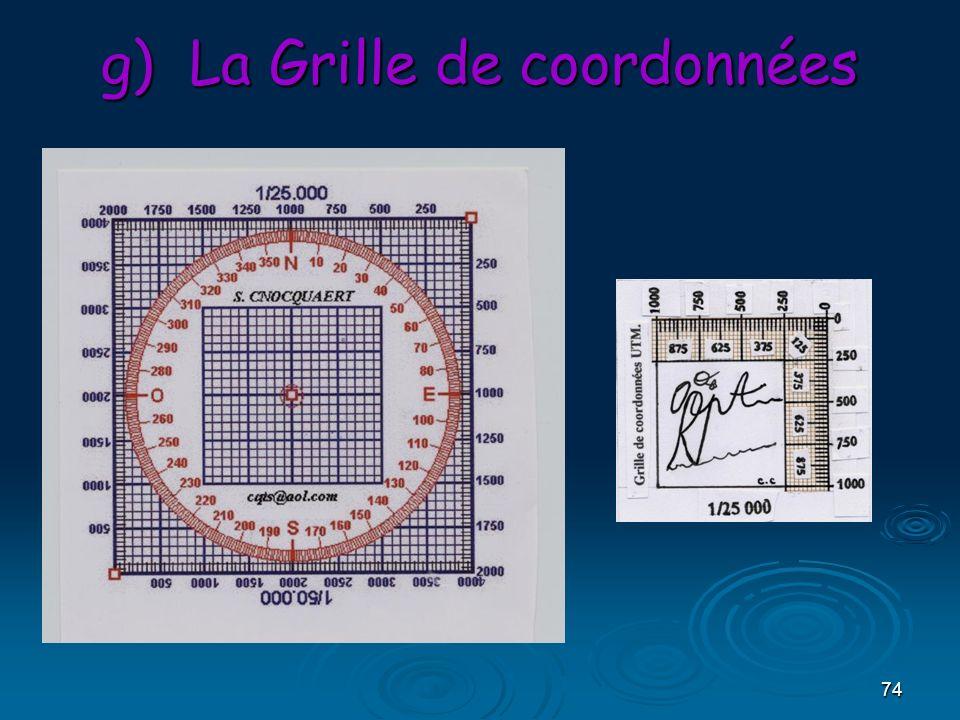 74 g)La Grille de coordonnées