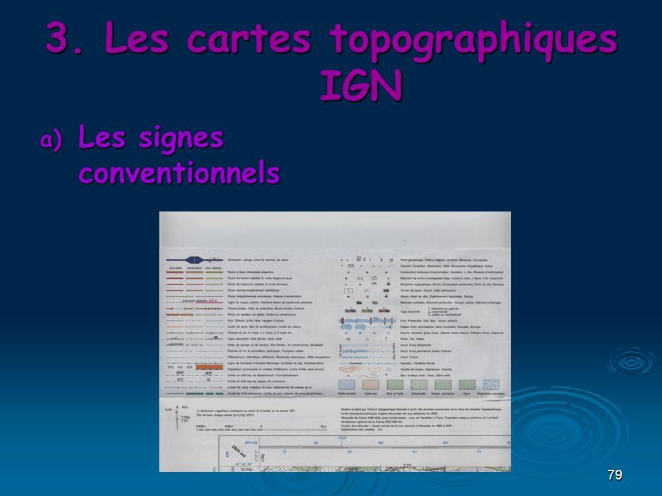 79 3.Les cartes topographiques IGN a) Les signes conventionnels