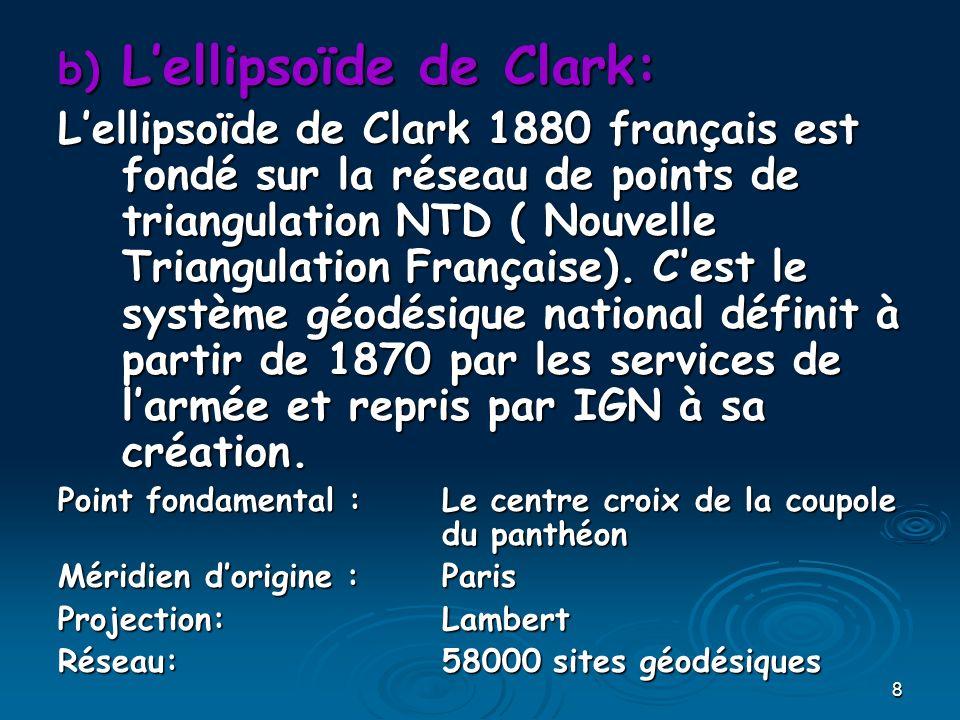 39 Le quadrillage LambertLe quadrillage Lambert Les axes du quadrillage sont le Méridien de Paris pour laxe des y Les axes du quadrillage sont le Méridien de Paris pour laxe des y et le parallèle de tangence pour laxe des x.