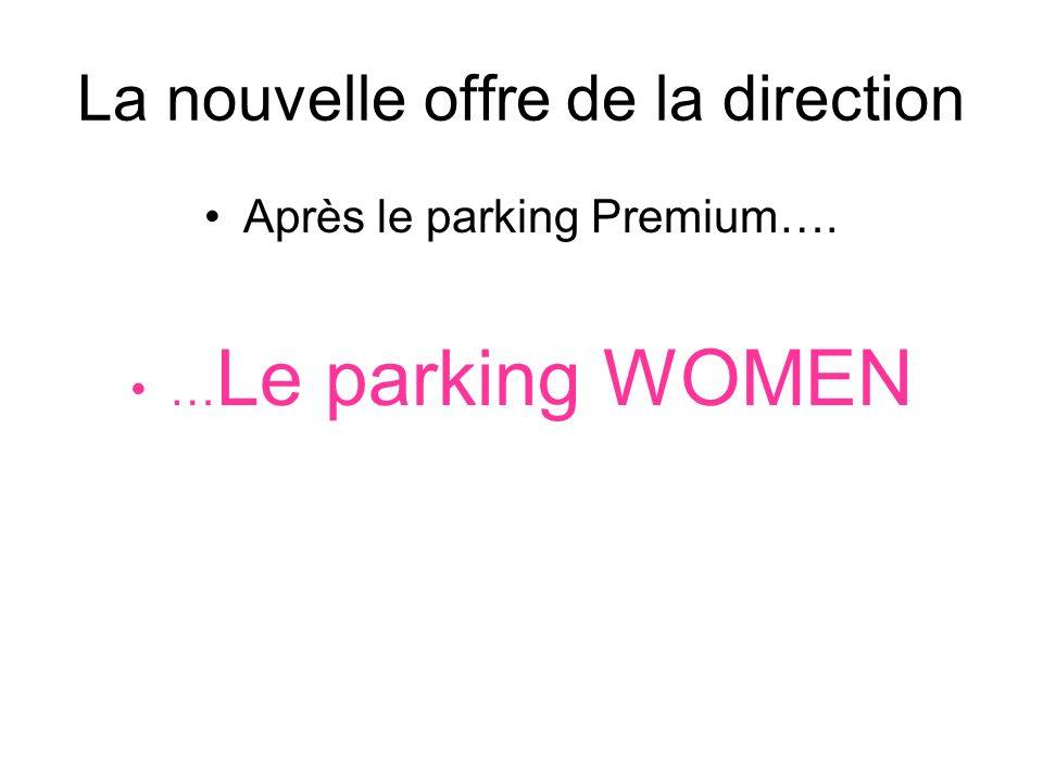 Le WOMAN PARK Des places réservées aux dames avec des services plus (coiffeur, manucure, escort boys…).