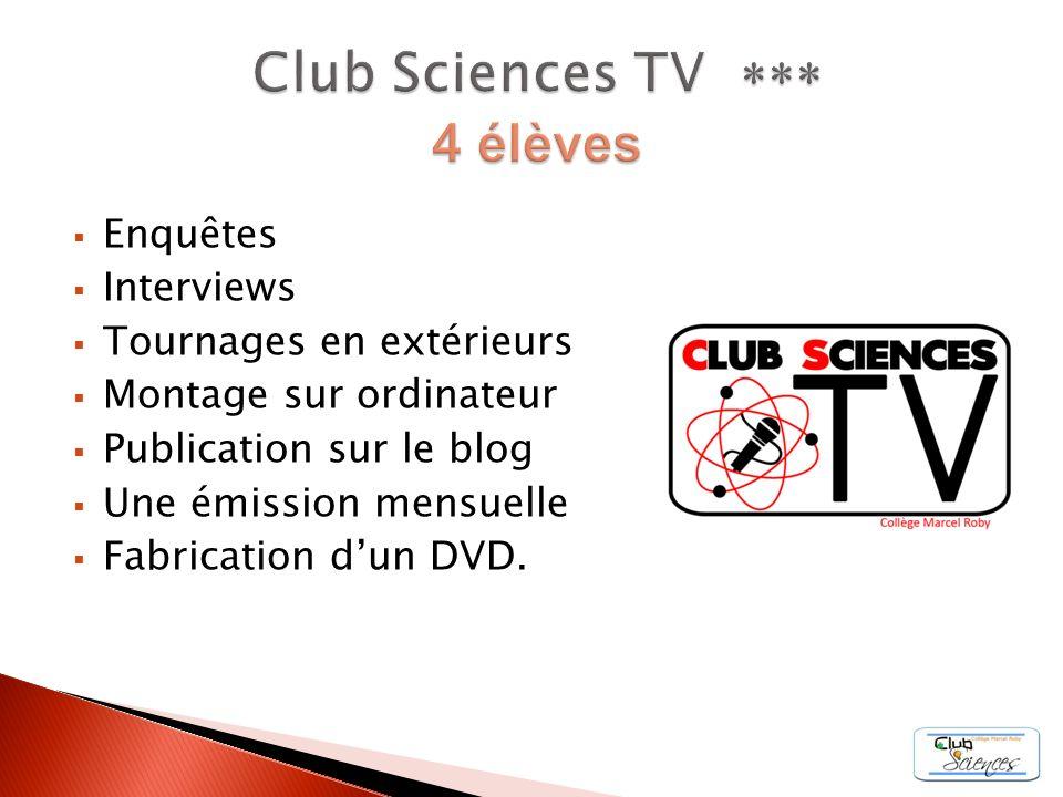 Enquêtes Interviews Tournages en extérieurs Montage sur ordinateur Publication sur le blog Une émission mensuelle Fabrication dun DVD.
