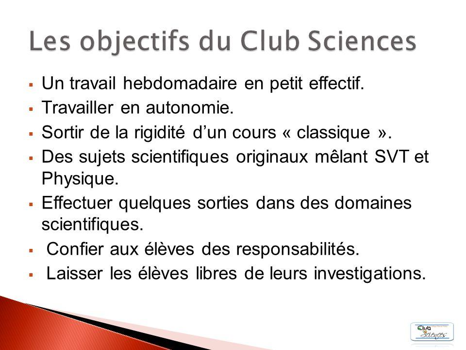 I.Nos équipes dexperts Nos équipes dexperts II. « Club Sciences TV » « Club Sciences TV » III.