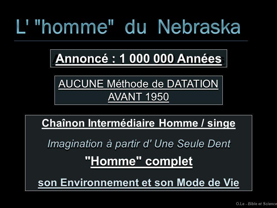 AUCUNE Méthode de DATATION AVANT 1950 O.Le - Bible et Science
