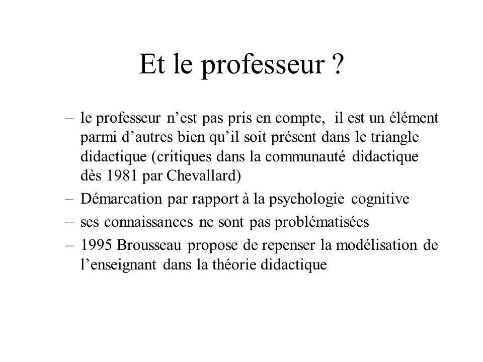 Et le professeur .