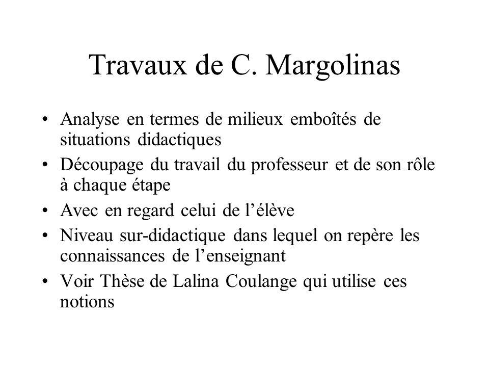 Travaux de C.