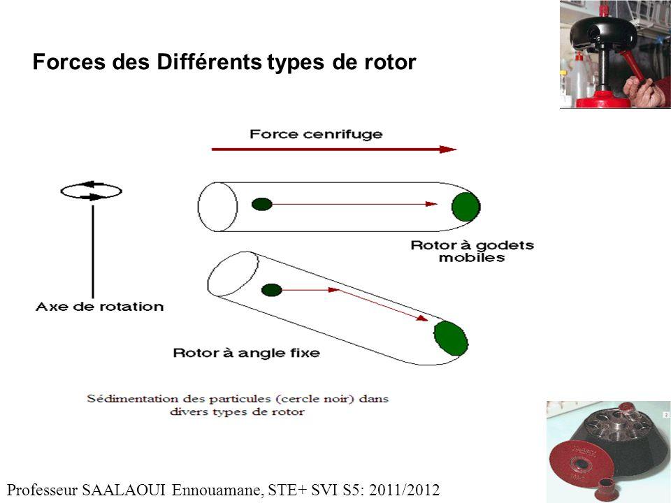 Forces des Différents types de rotor Professeur SAALAOUI Ennouamane, STE+ SVI S5: 2011/2012