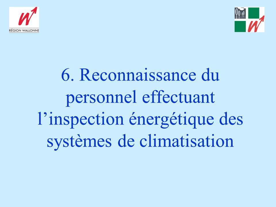 6. Reconnaissance du personnel effectuant linspection énergétique des systèmes de climatisation