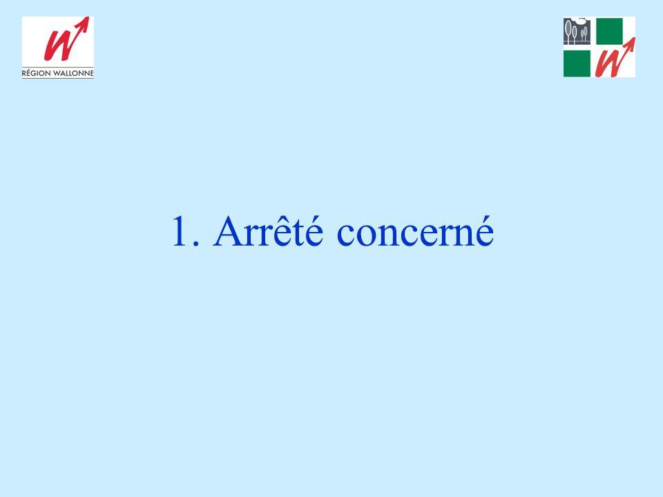 Principales dispositions Certificat environnemental en technique frigorifique : –Délivré par un centre dexamen reconnu par la Région wallonne.