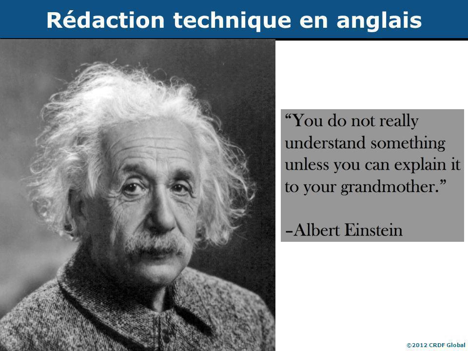 Publication d'articles de recherche ©2012 CRDF Global Rédaction technique en anglais