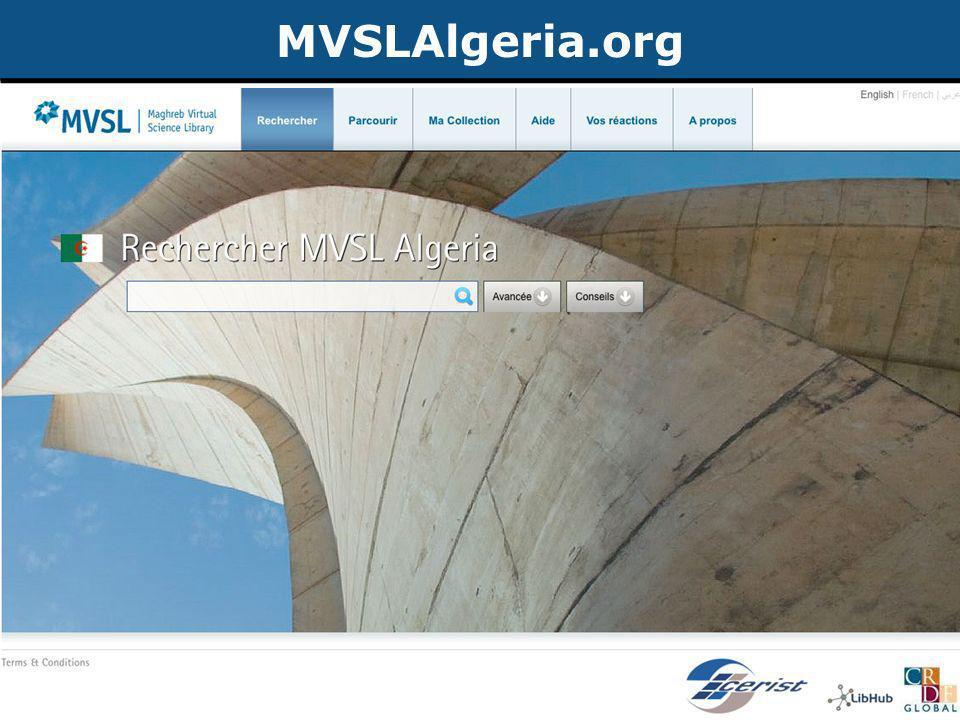 Publication d'articles de recherche ©2012 CRDF Global MVSLAlgeria.org >18 millions d'articles de recherche