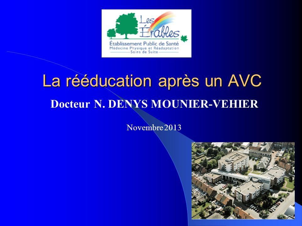 La rééducation après un AVC Docteur N. DENYS MOUNIER-VEHIER Novembre 2013