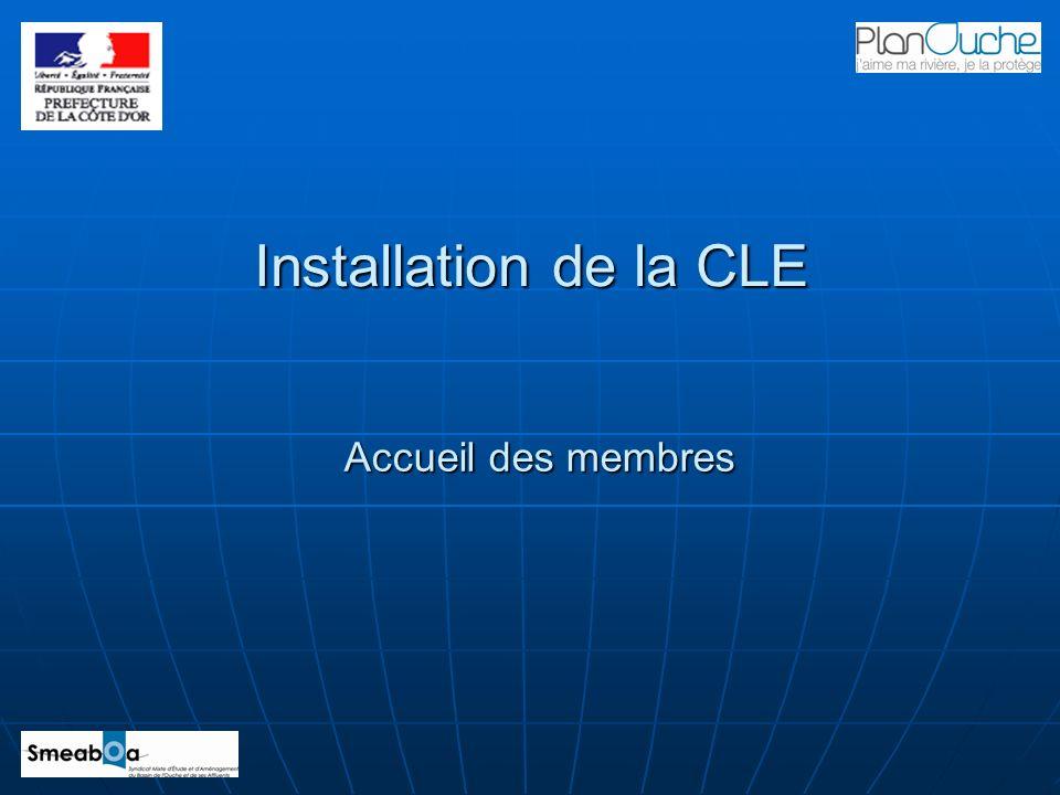 Installation de la CLE Accueil des membres