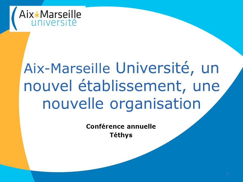 Organisation administrative et technique dAix-Marseille Université 5 groupes de travail ont été lancés : - Groupe « directions centrales » - Groupe « UFR fusionnées » - Groupe « impacts juridiques de la fusion ».