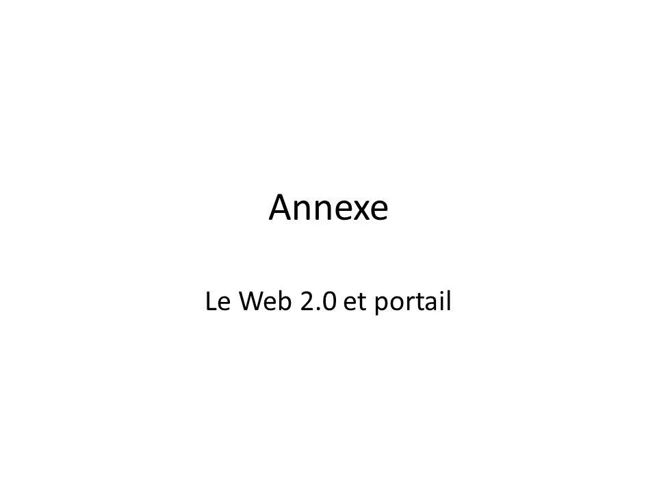 Annexe Le Web 2.0 et portail