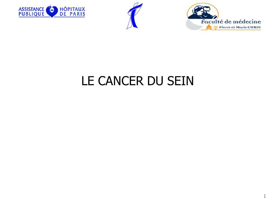 1°) Les principes de la thérapeutique Il faut bien distinguer le traitement des cancers in situ et des cancers invasifs.