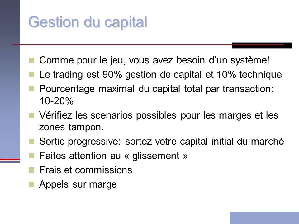 Gestion du capital Comme pour le jeu, vous avez besoin dun système.