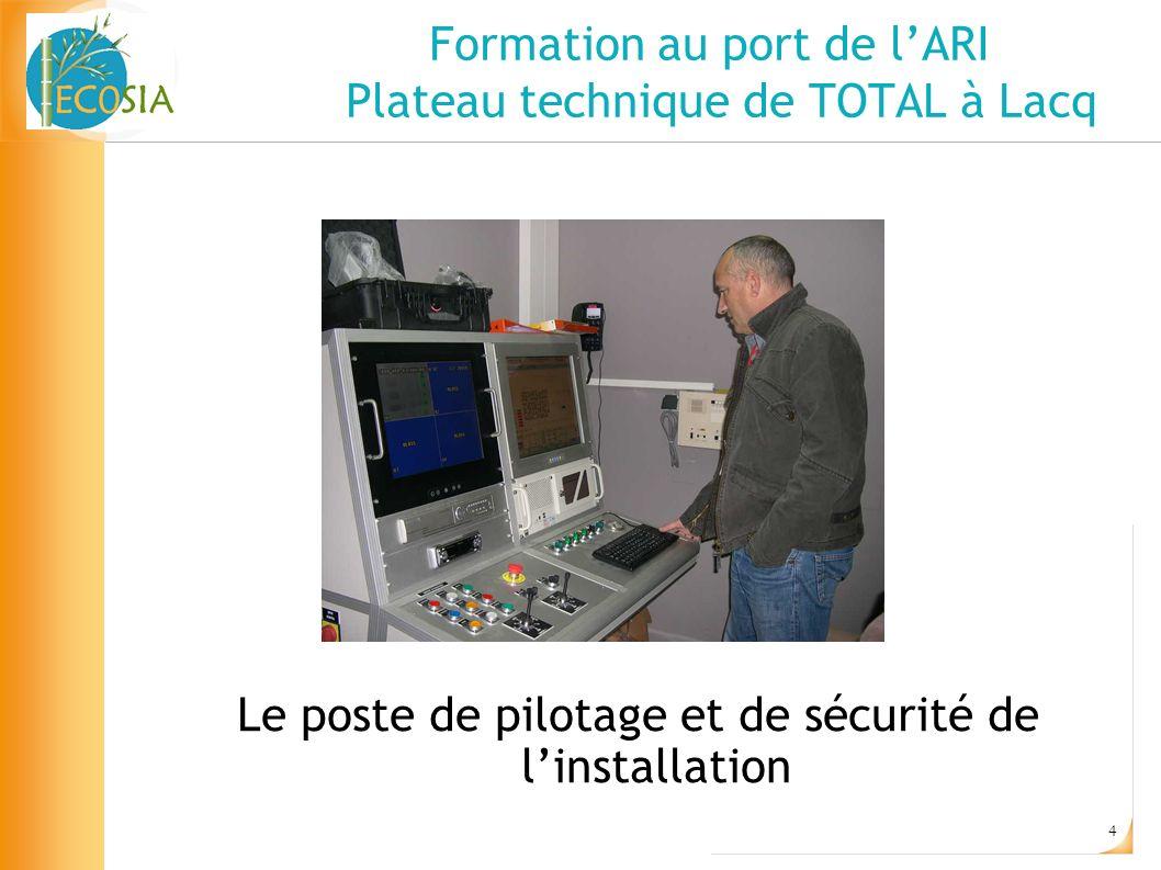 5 Formation au port de lARI Plateau technique de TOTAL à Lacq Contact: Gilles MARDELLE Chef du service Intervention TOTAL - Lacq gilles.mardelle@total.com
