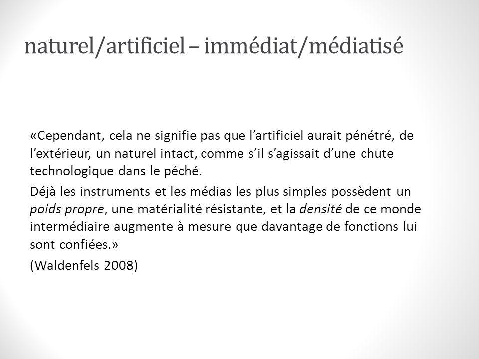 naturel = artificiel .