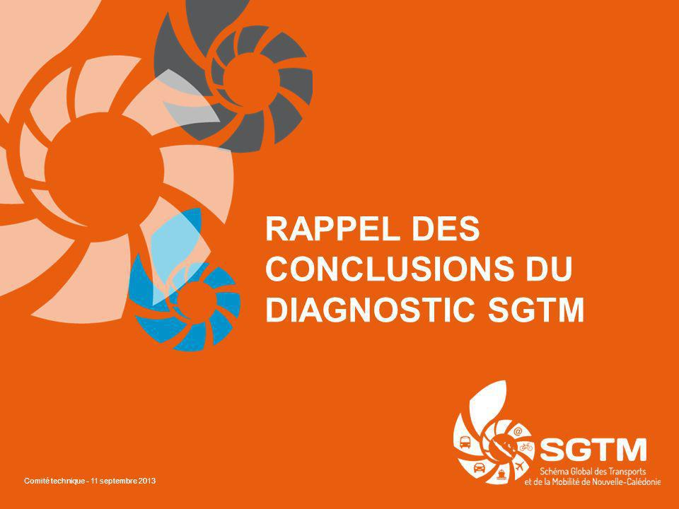 RAPPEL DES CONCLUSIONS DU DIAGNOSTIC SGTM Comité technique - 11 septembre 2013