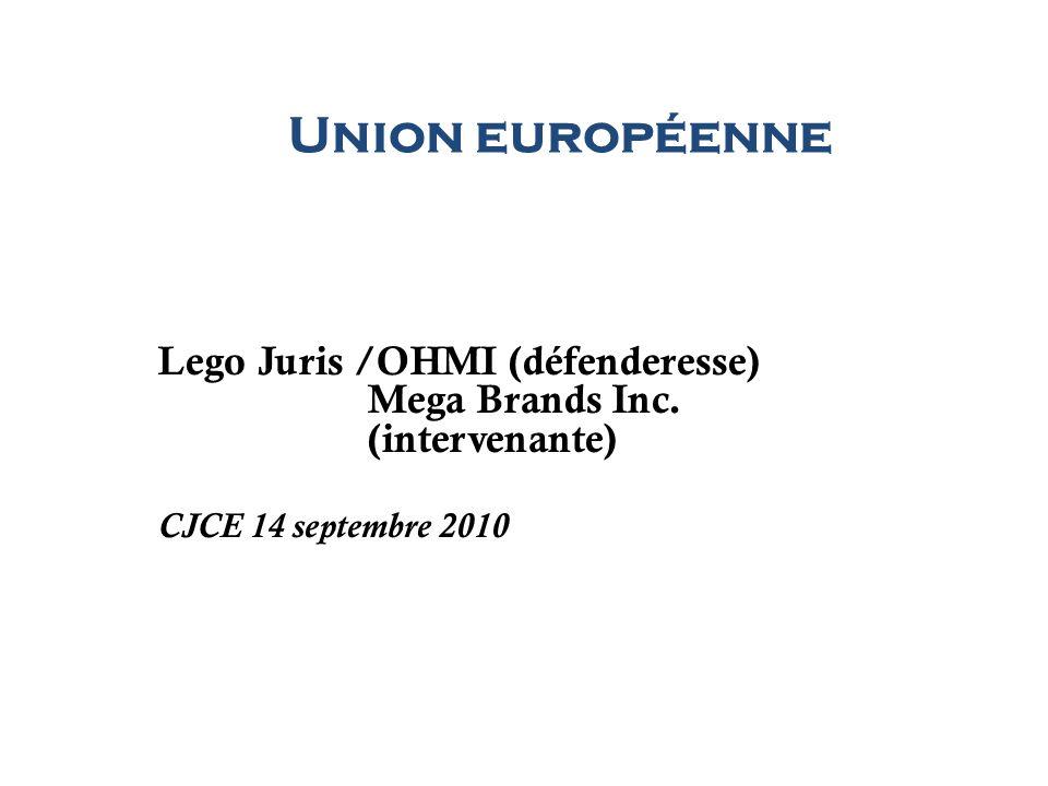 Union européenne Lego Juris /OHMI (défenderesse) Mega Brands Inc. (intervenante) CJCE 14 septembre 2010