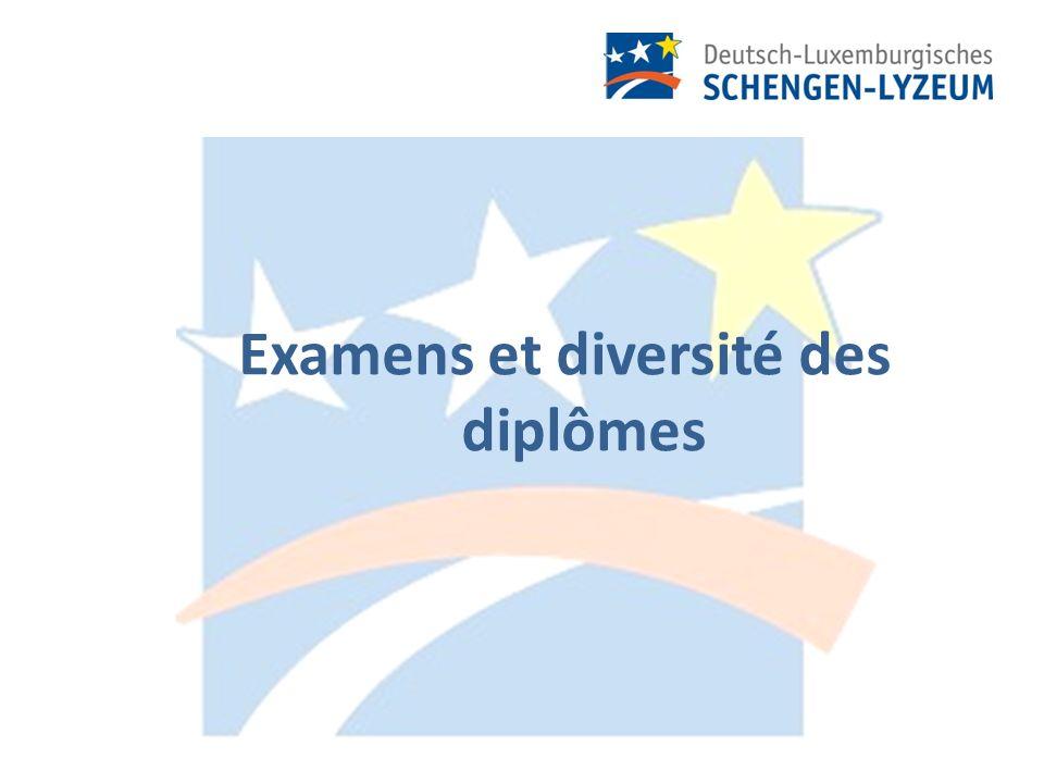 Examens et diversité des diplômes