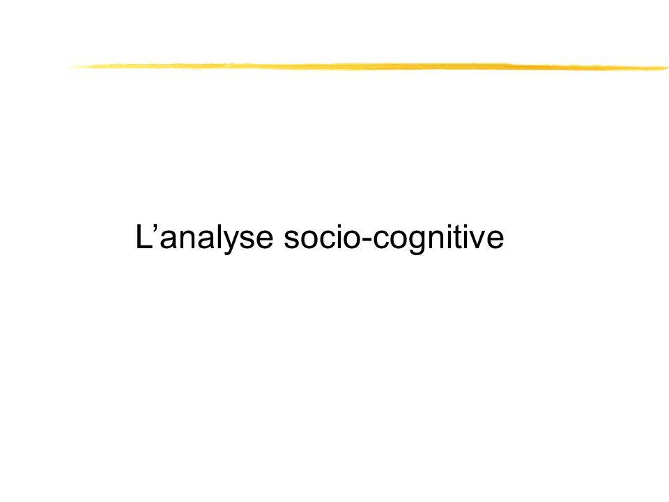 Lanalyse socio-cognitive